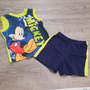 Mickey Mouse tank and shorts set